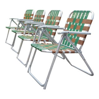 Mid-Century Folding Lawn Chairs - Set of 4