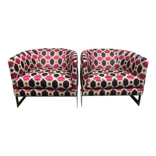 Nathan Anthony Korz Chair by Tina Nicole + Kravet Fabric - a Pair For Sale