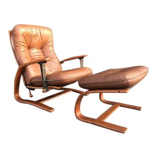 Mid Century Lounge Chair& Ottoman by Ingman Anton Relling For Sale