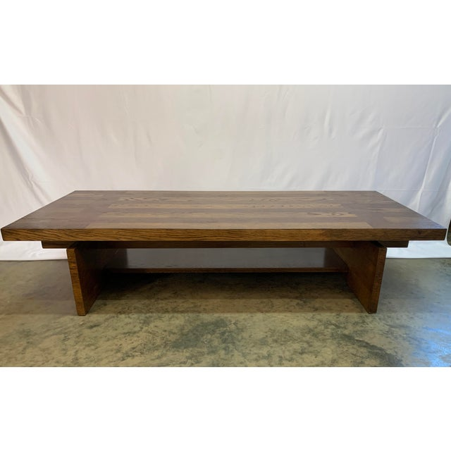 Mid-Century Modern 1970s Lane Brutalist Walnut and Oak Coffee Table For Sale - Image 3 of 8