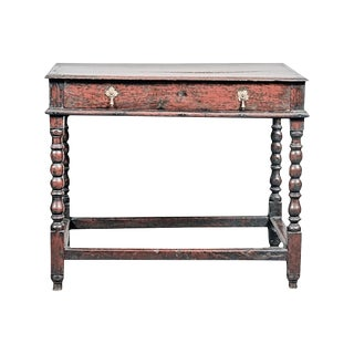 18th Century Jacobean Oak Side Table For Sale