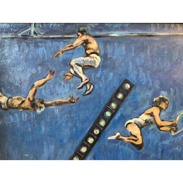 Acrobats Oil on Board by A. Smith For Sale - Image 4 of 7