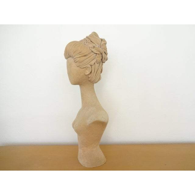 1940s Abstract Velvet Mannequin Bust For Sale In Saint Louis - Image 6 of 10