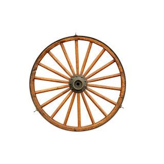 Antique Steel & Oak Wagon Wheel For Sale