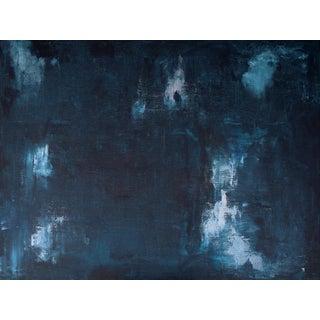 Rhapsody Original Large Dark Blue Painting For Sale
