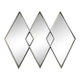 Labarge 1964 Interlocking Diamond Silver Giltwood Mirror