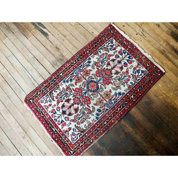 "Vintage Persian Bohemian Rug - 1'10"" x 3'1"" - Image 2 of 6"