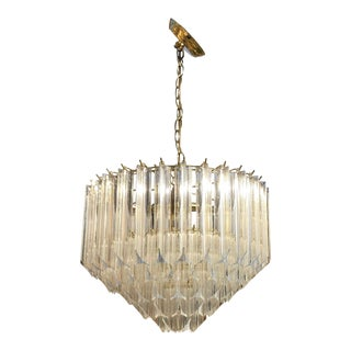 Vintage 5 Tiered Lucite Chandelier For Sale
