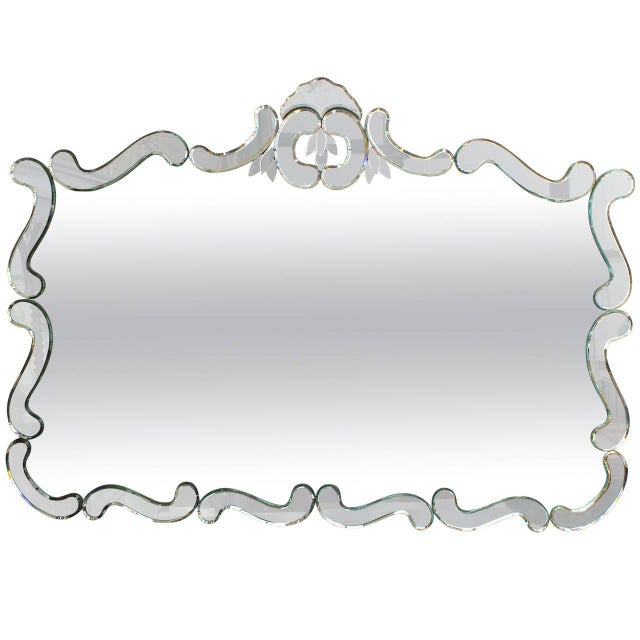 Large 1950's Venetian Style Wall Mirror For Sale - Image 10 of 12