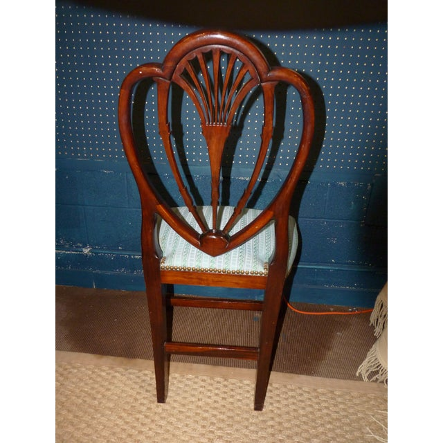 Mahogany Heart Shieldback Chairs - Set of 12 - Image 5 of 9