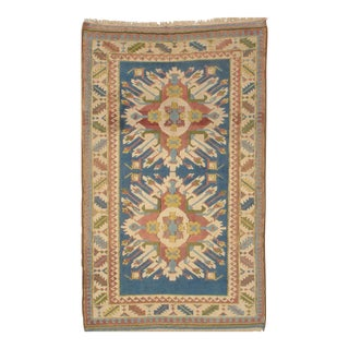 "Pasargad N Y Hand-Knotted Kazak Area Rug - 4'7"" X 7'4"" For Sale"