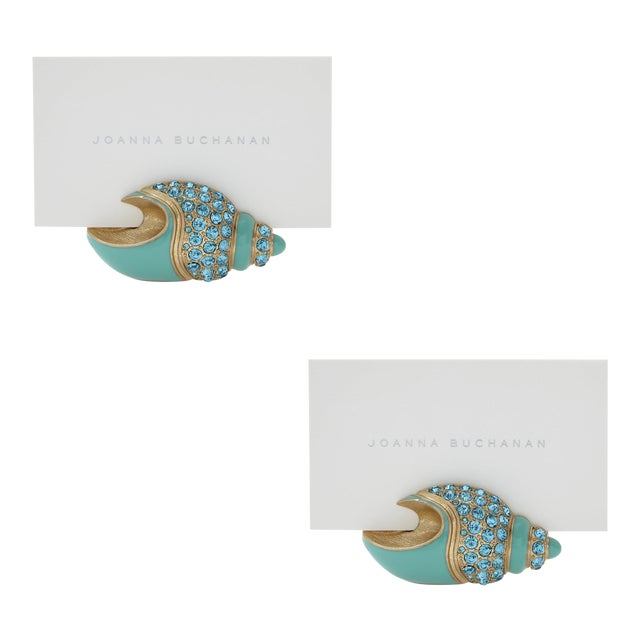 Shell Placecard Holders, Set of Two For Sale