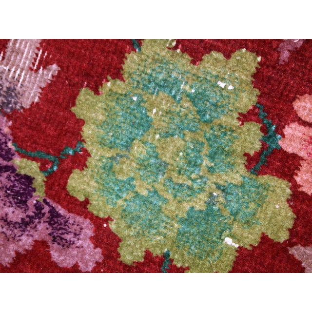 1920s 1920s Hand Made Antique Art Deco Chinese Rug - 2′ × 2′10″ For Sale - Image 5 of 10