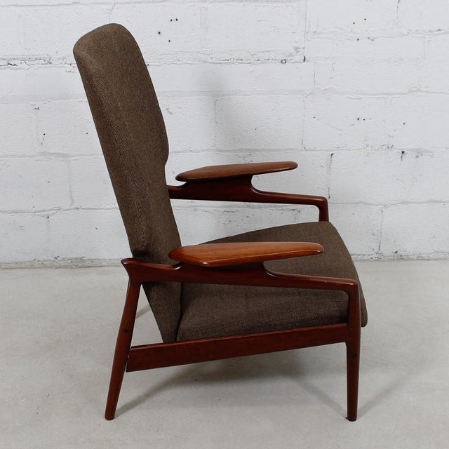 Finn Juhl Reclining Wingback Chair For Sale - Image 9 of 10