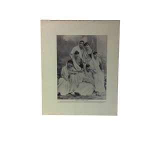 "Antique Glimpses of India Print, ""Group of Parsee Ladies"", Circa 1890 For Sale"