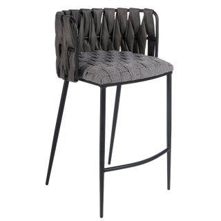 Milano Counter Chair in Gray For Sale