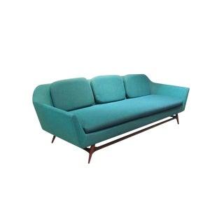 Extra Long Danish Modern Sofa For Sale