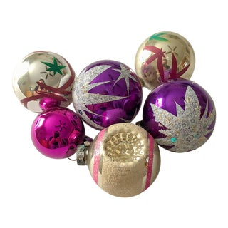 Sugar Plum Christmas Ornaments, Set of 6 For Sale