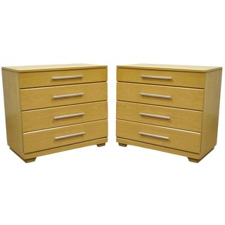 1950s Mid-Century Modern Raymond Loewy Mengel Oak Bachelor Chests - a Pair For Sale