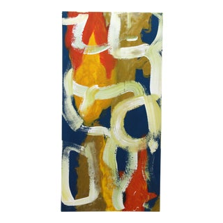 Colorful Abstract Acrylic Painting For Sale