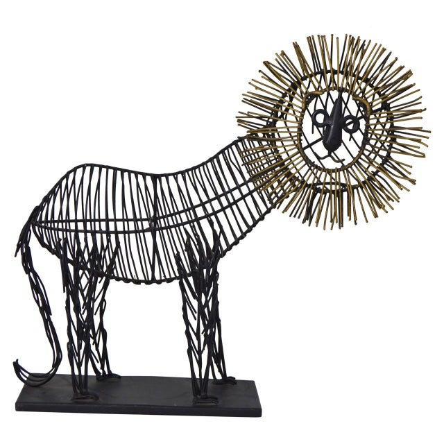 Curtis Jere Style Sculpture of a Lion - Image 1 of 8