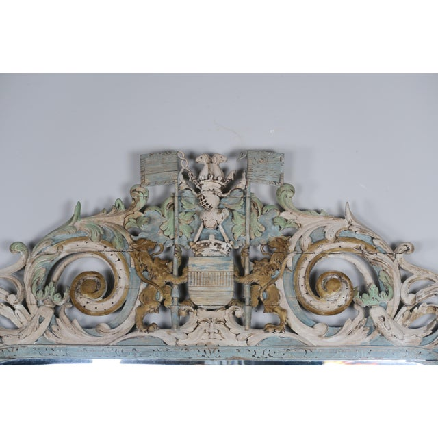 19th Century English Carved Wood Painted Mirror - Image 3 of 9