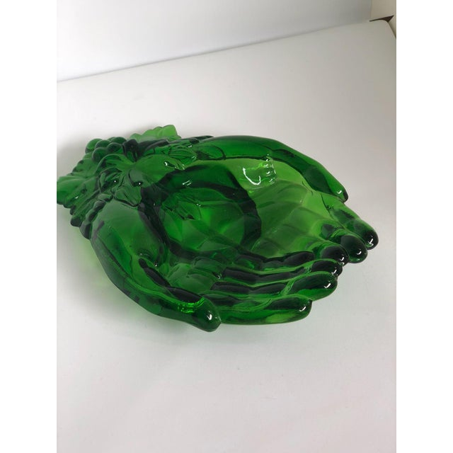 Green Vintage Green Molded Glass Dishes, 1960s, Set of Five For Sale - Image 8 of 11