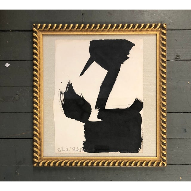 """1980s Original Vintage Robert Cooke Abstract """"Black Duck"""" Painting For Sale - Image 5 of 5"""