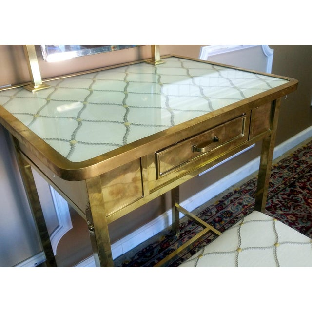 Vintage 1940s French Deco Brass Bedroom Vanity Dressing Table ...