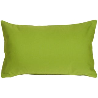 Contemporary Sunbrella Macaw Green Outdoor Pillow - 12x19 For Sale