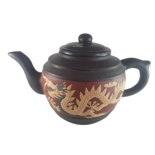 Yixing Teapot Zisha Phoenix & Dragon For Sale