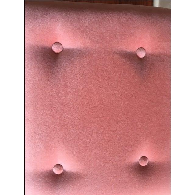 Acrylic Legged Stool & Coral Cushion - Image 3 of 4