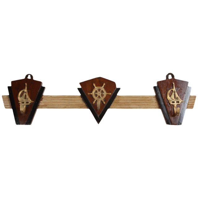 Nautical Coat Hooks From 1970s Cruise Ship For Sale