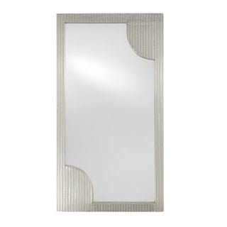 Currey & Co. Modern Silver Foil Wall Mirror For Sale