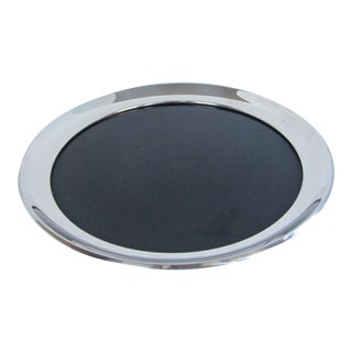 Vintage Silverplate Tray with Black Laminate Insert