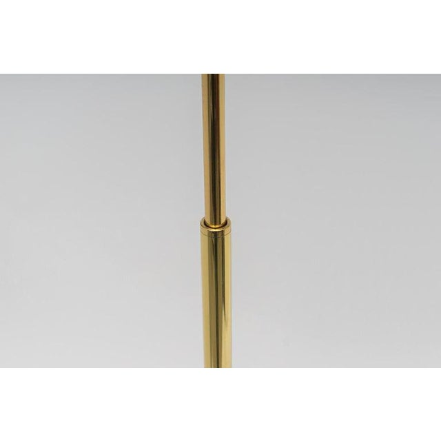 Polished Brass Adjustable Floor Lamp by Casella Lighting 1980s For Sale In West Palm - Image 6 of 11
