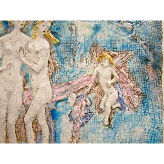 Ugo Lucerni Ugo Lucerni Majolica Wall Relief For Sale - Image 4 of 7