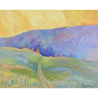 San Miguel Fauvist Landscape Painting For Sale