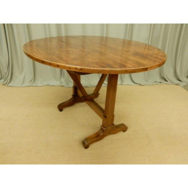 Wood Early 19th Century French Provincial Wine Table For Sale - Image 7 of 9