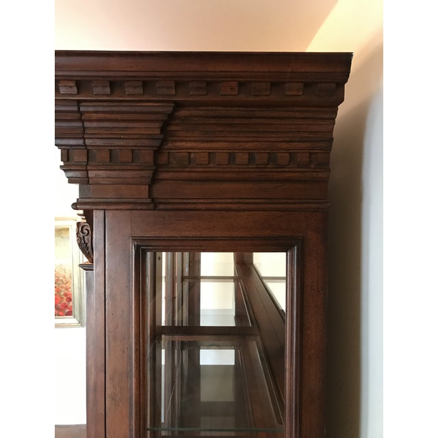 Traditional Large Lighted China Cabinet - Image 4 of 5