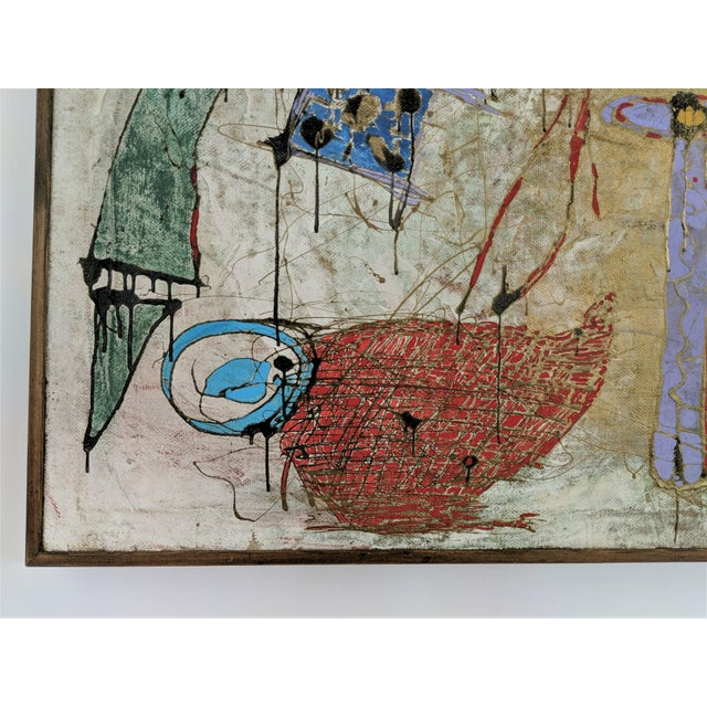 Contemporary Andrea Bonora Painting in the Manner of Basquiat For Sale - Image 10 of 13