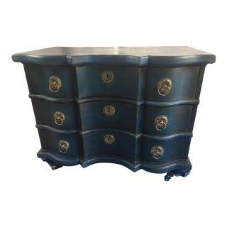 Vintage Bohemian Blue Side Table