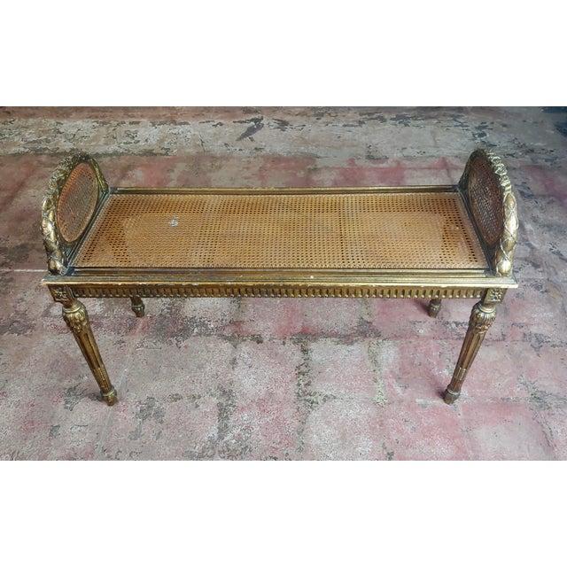 Amazing Antique French Louis Xvi Cane Bed Bench Machost Co Dining Chair Design Ideas Machostcouk