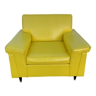 Mid-Century Modern Yellow Chair For Sale