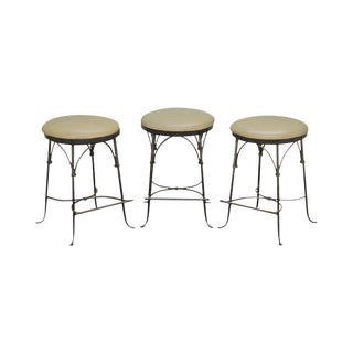 Charleston Forge Set of 3 Shaker Arch Backless Swivel Stools