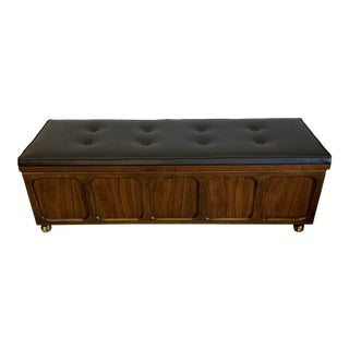 Mid Century Modern Lane Cedar Chest Bench For Sale