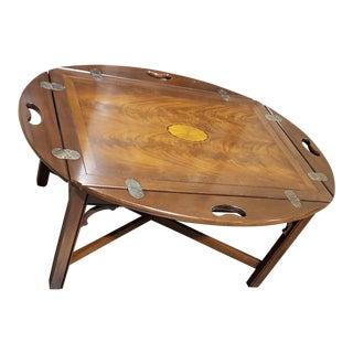 Hekman Copley Square Veneer Drop-Down Table For Sale
