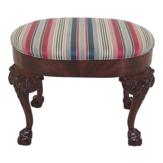 Southwood Ball & Claw Mahogany Ottoman Footstool For Sale