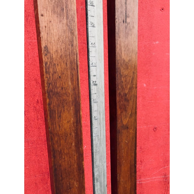 Antique 20th Century Wood & Iron Stadometer For Sale - Image 9 of 12