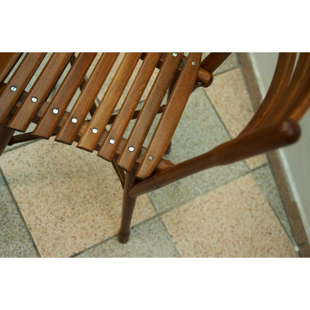 Wood Antique garden chair by J. & J. Kohn, 1900 For Sale - Image 7 of 11